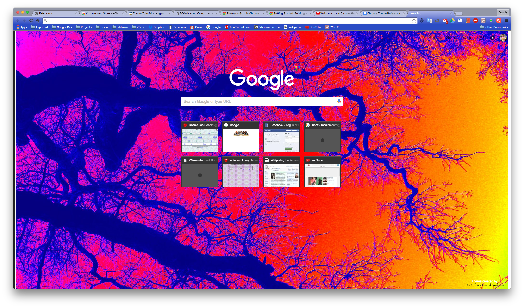 Welcome to my Psychedelic Tree Fractal Chrome theme page